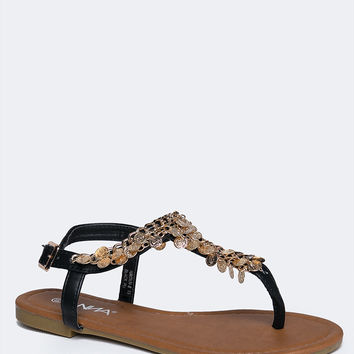 Embellished Metal Sandal