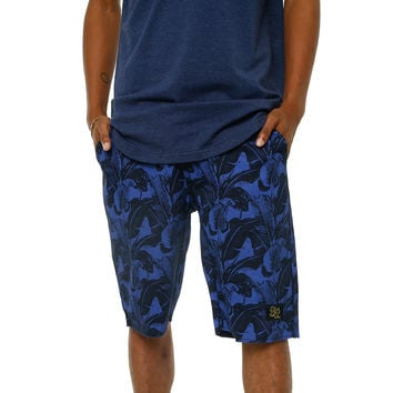 Vacation Twill Print Shorts Navy