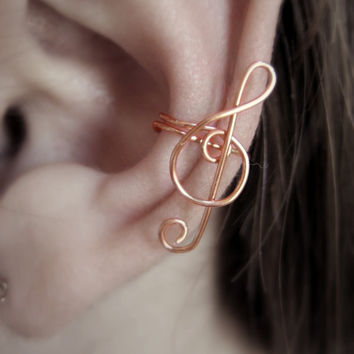 Music to My Ear Cuff by Artistieke on Etsy