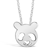 Panda Bear Inspired Animal Pendant Necklace