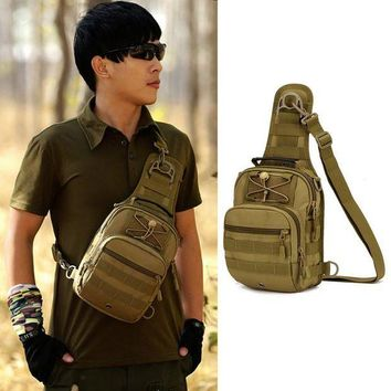 VONE05L Unisex Nylon Oxford Fabric Multifunctional Men and Women Chest Shoulder Satchel Bag Tactical Sling Pack Camping Shoulder Pack