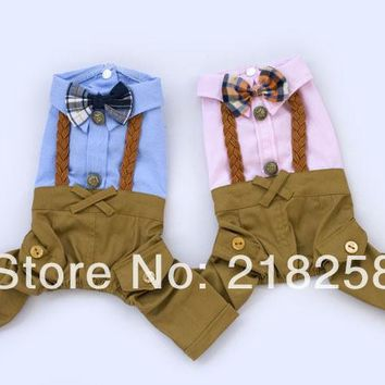 New Cute Pet Dogs Pants with Coat Free Shipping By China Post Dogs clothes New Summer Dogs Clothing