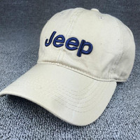Beige Jeep Embroidered Baseball Cap Hats