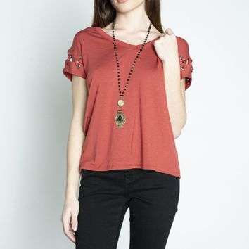 Dex Lace Up Sleeve Tee