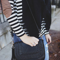Near & Far Crossbody Bag - Black