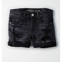 AE Denim X Midi Short, Onyx Black