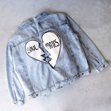 soul mates vintage denim jacket