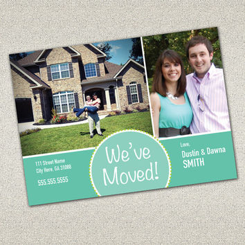 Moving Announcement Card - Modern, Chic design