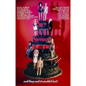 Rocky Horror Picture Show Movie poster Metal Sign Wall Art 8in x 12in