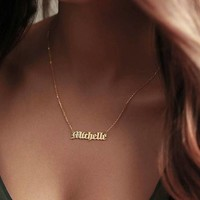 Old English Custom Necklace (12 Letters)