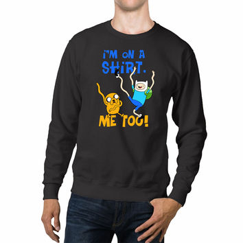 Adventure Time Jake And Finn On A Shirt Unisex Sweaters - 54R Sweater