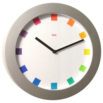 Tory Wall Clock, Silver, Wall Clocks