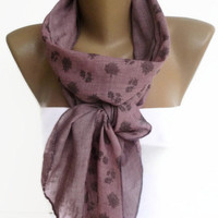women scarf , fashion accessory , long scarves , floral print scarf