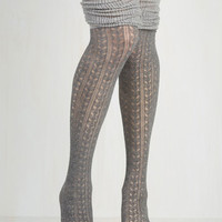 Boho Put Your Strut In Me Thigh Highs in Stone by ModCloth