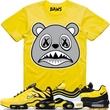 SHADOW BAWS Yellow Shirt - Nike Air Max Frequency Pack Bumble Bee
