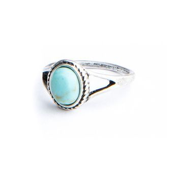 Brandy ♥ Melville |  Turquoise Stone Vintage Ring - Accessories