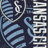 Kansas City Sporting SC MLS 46x60 Concrete Design Micro Raschel Plush Throw