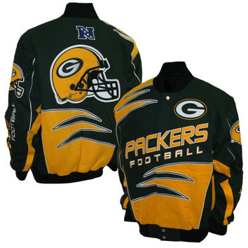 Green Bay Packers Shred Cotton Twill Jacket – Green