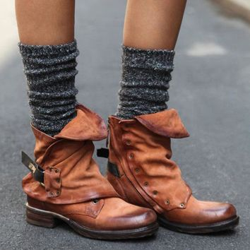 Cassidy leather Slouch Boot | Brown