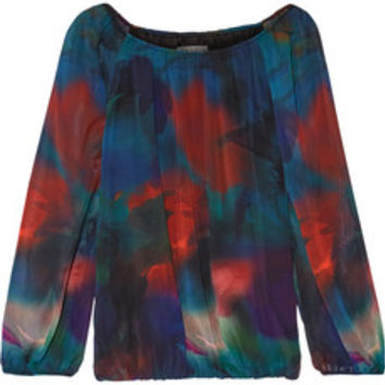 Alice + Olivia Alta printed crepe top – 50% at THE OUTNET.COM