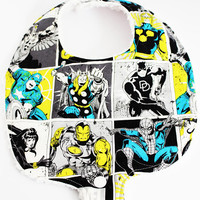 The Avengers Marvel Heros Binky Bib ~ Baby Bibs ~ Boy bibs ~ Pacifier Bibs ~ New Baby ~ Baby Shower Gifts