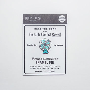 Vintage Electric Fan Enamel Pin
