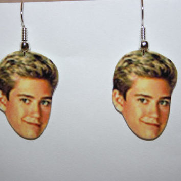 Mark Paul Gosselaar Zack Morris Saved By The Bell Earrings Television Jewelry Charms