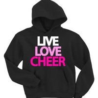 Amazon.com: Live Love Cheer Hoodie Sweatshirt: Clothing