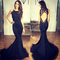 Open Back Chiffon Evening Dress Mermaid Pageant Party Formal Prom Celebrity Gown