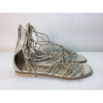 546bbd12dd4 Free People Metallic Forget Me Knot Gladiator Sandal