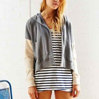 ALTERNATIVE Drop-Shoulder Hoodie Sweatshirt - Grey Multi