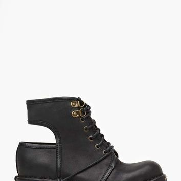 Jeffrey Campbell Rosie Cutout Combat Boot