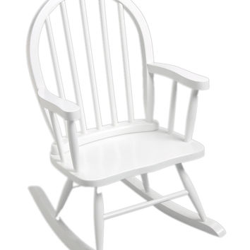 Windsor Childrens Rocking Chair White