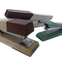 Vintage Office Staplers Bates Bostitch Set of 3 Desk Stapler Office Supplies Mid Century Home Decor Desk Accessories Metal Stapler