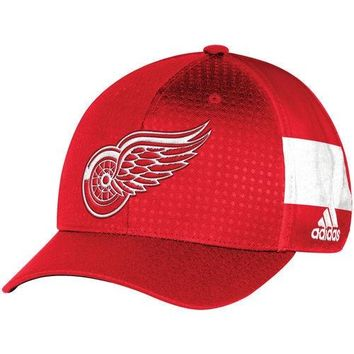 NHL Detroit Red Wings Red 2017 Draft Structured Flex Hat
