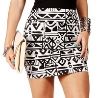 Ivory/Black Banded Tribal Skirt