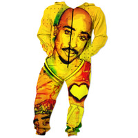 Tupac multi color unisex Onesuit