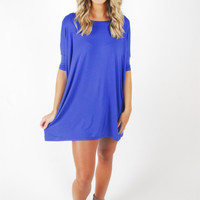Piko Tunic Dress 1/2 Sleeve