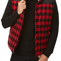 Checkered Down Vest
