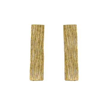 "1/2"" Gold Bar Earrings"