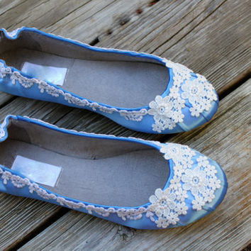Blue Wedding Flats - The Tara