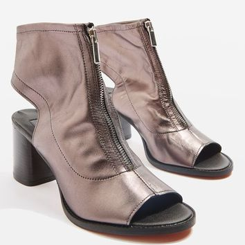 Leather Zip Front Sandal Boots - New In Fashion - New In