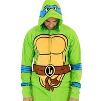 Teenage Mutant Ninja Turtles Leonardo Green Union Suit (Large)
