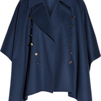Burberry - Button-detailed wool and cashmere-blend poncho