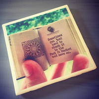 Sometimes You Just Have to Chuck it in the Fuck it Bucket and Move On; Enchanting Minds Little Book; Ceramic Tile Coaster; House Decor