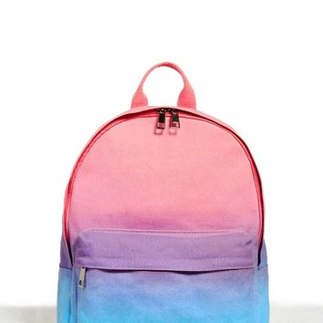 Gradient Tie-Dye Backpack