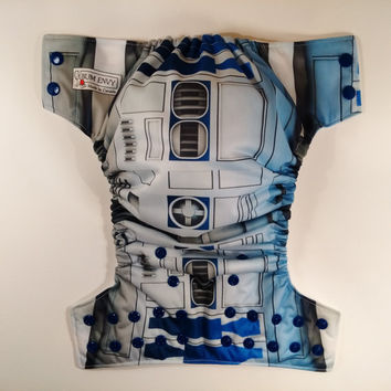 Star Robot Cloth Diaper