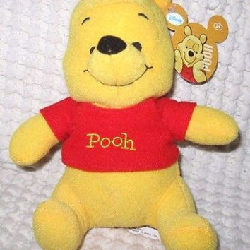 "Walt Disney 8"" Winnie the Pooh Plush Stuffed Animal Toy-New with Tags! RARE Pooh"