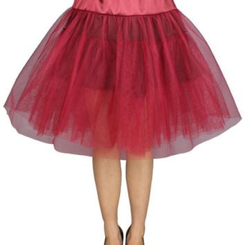 Viva Dance Wine Red Petticoat Three Layers Underskirt Pannier