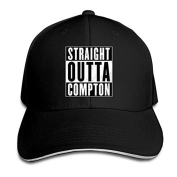 BestSeller Unisex Nwa Straight Outta Compton Peaked Adjustable Baseball Caps Hats Black